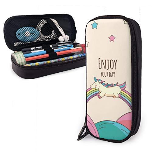 Enjoy Your Day Trousse à crayons pour garçons et filles Grande trousse pour fournitures scolaires et bureau