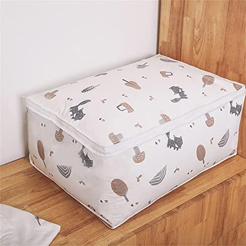 JTKJ Nuovo Pieghevole Borsa di Immagazzinaggio Vestiti Coperta Trapunta Armadio Maglione Organizzatore Box Sacchetti Moda Vendita Vestiti Cabinet Organizzatore Un 60* 40* 25 cm