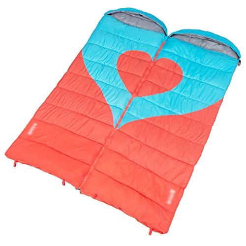 Outdoor-slaapzak, camping-slaapzak met envelop, comfortabele temperatuurschaal, -5 °C tot 8 °C, geschikt voor seizoenen, lente en herfst en winter B