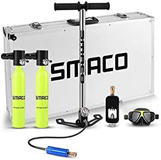Youngfogey SMACO Scuba Diving Equipment Cylinder,Portable Dive Oxygen Tank,Advanced Silicone Material for Increased Corrosion & Pressure and Greater Durability