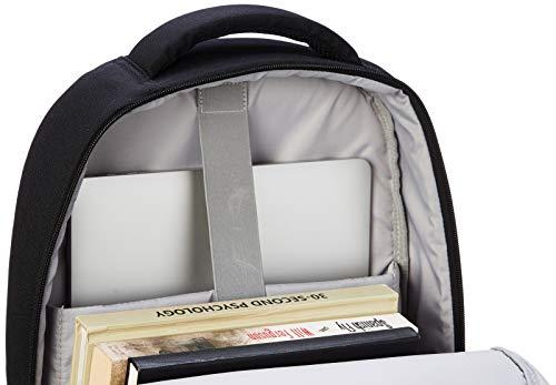 41OJmQhZdmL - AmazonBasics - Mochila de estilo urbano para ordenador portátil, 38 cm, granate