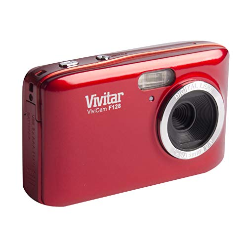 Vivitar HD 14.1MP Lightweight Portable 2.7 Inch Preview Screen Digital Camera, red