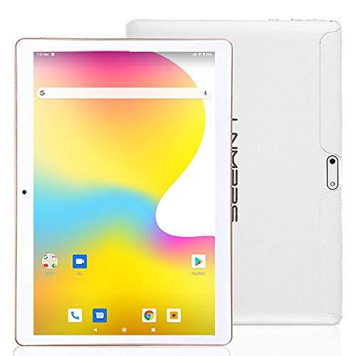 LNMBBS 3G Tablet de 10.1 Pulgadas, Android 7.0 Tableta de 2 GB RAM, 32GB Memoria Interna, Quad-Core, WiFi GPS Bluetooth, Blanco