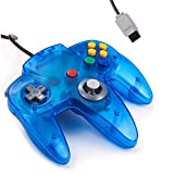 Classic N64 Controller, kiwitatá Retro Wired Game Pad Controller Joystick For N64 System Video Games Console Ice Blue