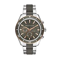 Case Thickness: 12 mm; Case Size: 46 mm Band Width: 22 mm; Inner Circumference: 200 +/- 5 mm Band Material: Steel Water Resistance: 10 ATM Packed in Armani Exchange Gift Box