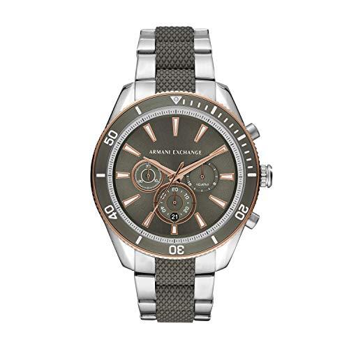 Armani Exchange Herren Chronograph Quarz Uhr mit Edelstahl Armband AX1830
