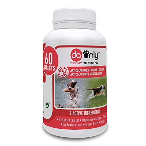 DAONLY colágeno Natural antiinflamatorio para Perros |60 Comprimidos| Pastillas Naturales | Alternativa a medicamentos y condroprotectores para Gatos