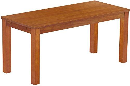 Brasilmöbel Esstisch Rio Classico 170x73 cm Kirschbaum Massivholz Pinie Holz Esszimmertisch Echtholz Größe und Farbe wählbar ausziehbar vorgerichtet für Ansteckplatten