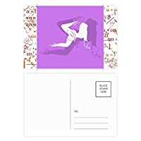 太った美しい女性の踊り 公式ポストカードセットサンクスカード郵送側20個