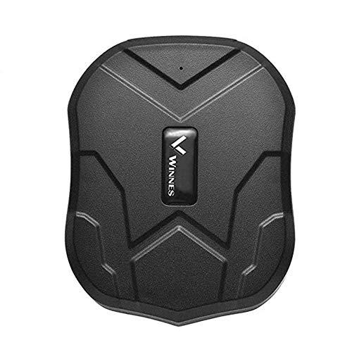 Winnes GPS Tracker, localizador GPS con imán Potente 3 meses reserva tiempo real GPS/GPRS/GSM Tracker Antirrobo para vehículos Autos Motocicleta