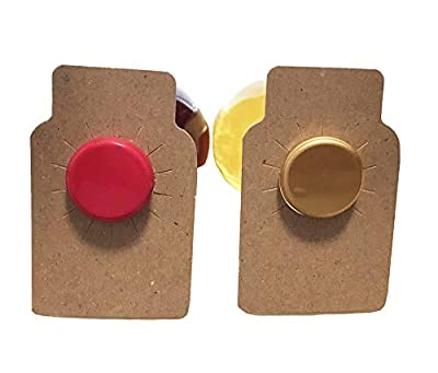 Wine tags for bottles - kraft brown chipboard paper - made in USA - 110 pieces