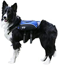 2PET Dog Backpack for Hiking Compact Dog Saddlebag for Dogs Adjustable Harness, Comfortable Fit-Perfect Dog Carrier Backpack with 2 Zipper Pockets & Bottle Holder for Outdoor Activities Select S/C
