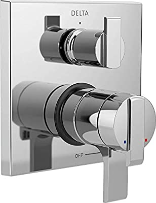 Delta Faucet T27867-SS Ara Angular Modern Monitor 17 Series Valve Trim with 3-Setting Integrated Diverter