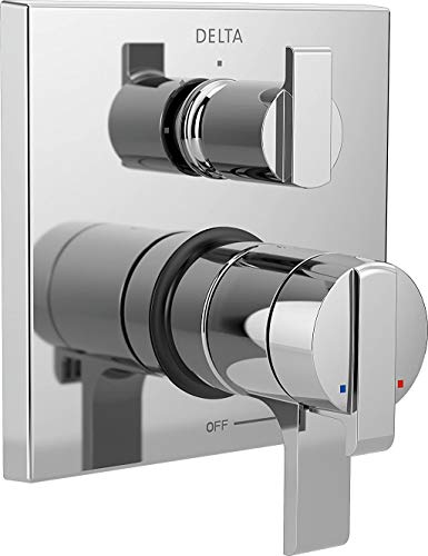 DELTA Ara 17 Series Dual-Function Shower Handle Valve Trim Kit with 3-Setting Integrated Diverter, Chrome T27867 (Valve Not Included)