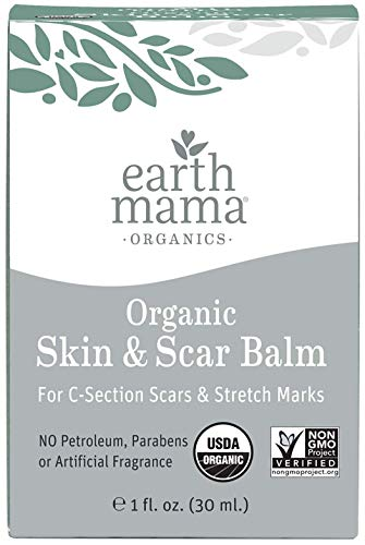 Organic Skin amp Scar Balm by Earth Mama | Reduces the Discomfort and Appearance of CSection Scars and Pregnancy Stretch Marks 1Fluid Ounce