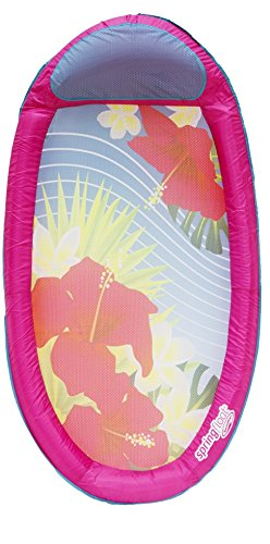 SwimWays–6038048–Spring Float Bedruckt–Luftmatratze aufblasbar Netzboden für Schwimmbad Semi Eingetaucht In Stoff–Farbe Zufällige