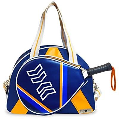Idawen Bolsa Padel Mujer | Retro-Disegno BLU-tasca Especial para la Raqueta Padel | Materiales de Alta Calidad | Edición Limitada