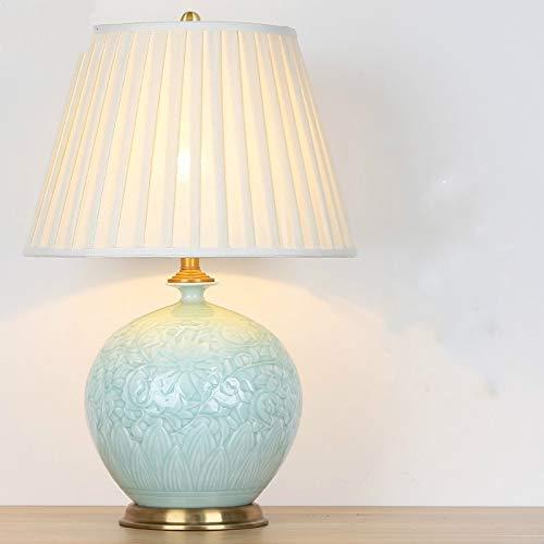 Lámpara de protección para los ojos Living Lámpara de mesa de decoración de interior creativo Estudio de cerámica de lámpara de mesa Decoración Luz (botella de granada) (Color : Plum bottle)
