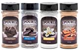 Upouria Coffee Topping Variety Pack - Chocolate, Cookies N Cream, French Vanilla and Cinnamon with Brown Sugar - 5.5 Ounce Shakeable Topping Jars - (Pack of 4)