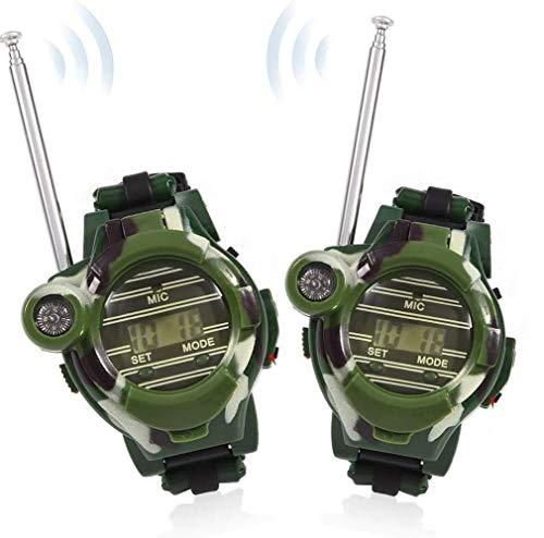 1set Walkie Talkie Orologio Per Bambini Long Range Radio Transceiver Esterna Citofono Walky Talky Camo Dellesercito Gioca I Regali Per Ragazze E Ragazzi