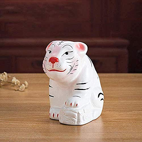 LPQA Home Accessories Sculpture Statue Ceramic Tiger Animal Piggy Bank Decoration Home Children Room Decoration Birthday Gift