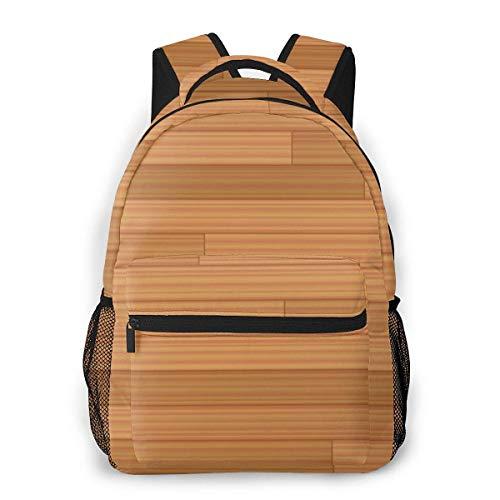 Lässige Daypack Parkett Muster mit Holz Textur Männer und Frauen Casual Style Leinwand Rucksack Schultasche,