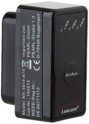 Lescars Diagnosegerät: OBD2-Profi-Adapter mit Bluetooth, für Android-Mobilgeräte (OBD Adapter, Bluetooth)