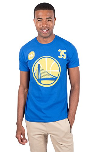 Ultra Game NBA Golden State Warriors - Kevin Durant Mens Player Name And Number Short Sleeve Tee Shirt, Team Color, X-Large