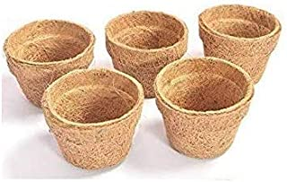 COIR GARDEN Coir Seedling Cups For Plants, 4 inch, 5 Pieces