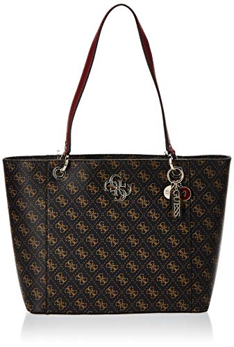 Guess Noelle Elite Tote, Bags Crossbody Donna, Brown, One Size