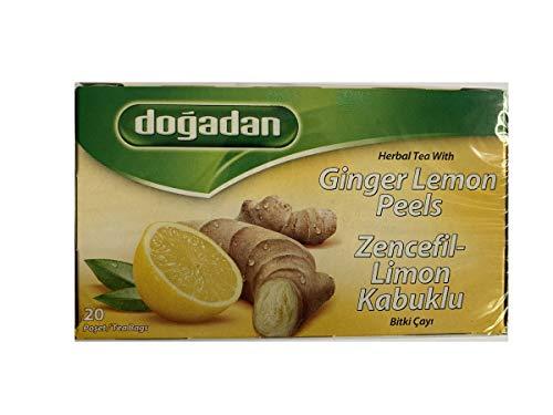 Dogadan - Ingwer Zitronenschale Tee - 20 Beutel (netto 40g)