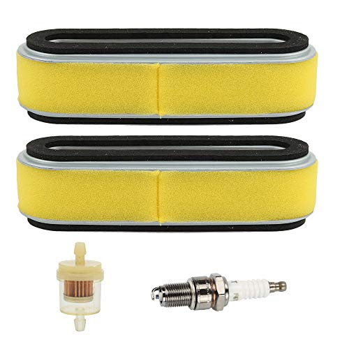 Wellsking HR214 Air Filter with Spark Plug for Honda GV150 GV200 GXV120 HR194 HR195 HRA214 HR215 Lawn Mower OEM# 17210-ZE6-003 17211-888-013 17210-ZE6-505
