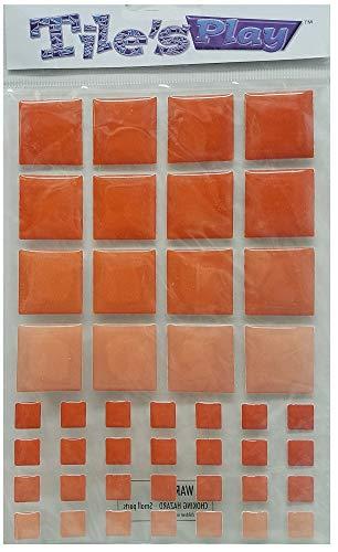 Sticko azulejos Play stickers-dark naranja cuadrado