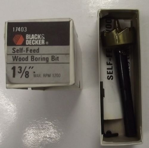 Black & Decker 17403 - Broca para madera autoalimentada (1-3/8 pulgadas)