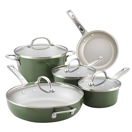 Ayesha Curry Home Collection 9 Piece Cookware Set Now $64.99 **5 Colors**