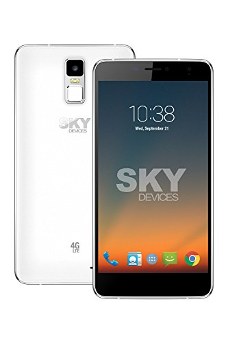 SKY Devices – Elite 6.0L+, 4G LTE Android Unlocked Smartphone, 13MP/5MP Cameras, 8GB Storage, 1GB RAM - Silver