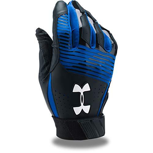 Under Armour Men's Clean Up Baseball Batting Gloves, Black (003)/White, X-Large