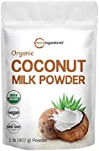 Micro Ingredients Organic Coconut Milk Powder, 2 Pound (32 Ounce), Plant-Based Creamer, Perfect for Coffee, Tea and Smoothie, Non-GMO and Vegan Friendly