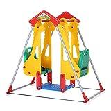 Baby Vivo Aire de jeux Balançoire pour Enfants Extérieur et à l'Intérieur siège double Jardin - Zoo