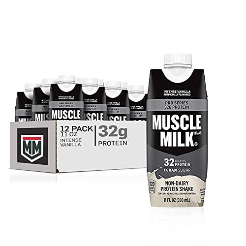 Muscle Milk Pro Series Protein Shake, Intense Vanilla, 32g Protein, 11 Fl Oz, 12 Pack