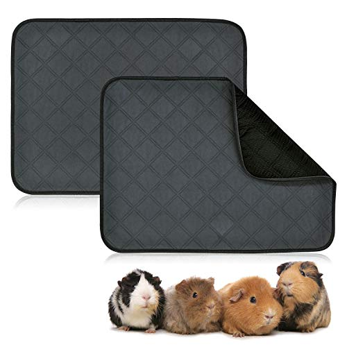 BWOGUE - Forro polar para conejillos de indias, 2 unidades de almohadillas lavables para pis de cobaya, impermeable, reutilizable y...