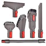 Ricambi e Accessori Spazzola Kit con Tubo Flessibile per Dyson V7 V8 V10 SV10 SV11 Aspirapolvere, Quick Release Tool Kit per Auto e Casa Pulizia
