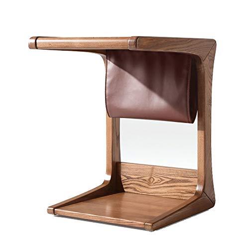 Tables FEI - Bureau d'ordinateur d'appoint en Bois de Bambou, Basse, pour Ordinateur Portable pour canapé, lit, de Bout avec Sac de Rangement Suspendu pour Tous Les postes de Travail