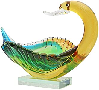 Escudilla de Cristal Figura Cisne Vidrio Murano Estilo Antiguo 27cm