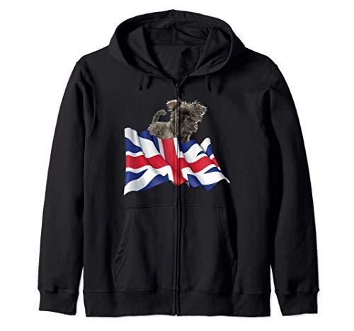 Union Jack Flag Dog Affenpinscher Kapuzenjacke