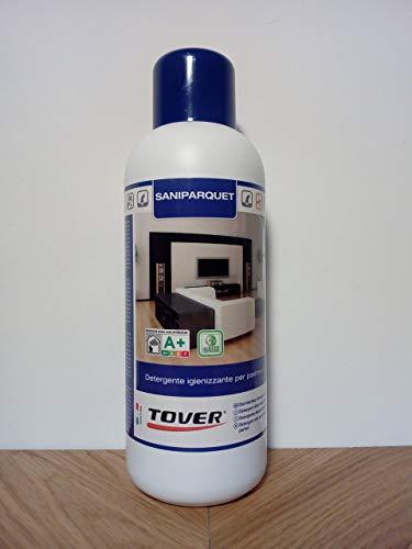 Saniparquet detergente igienizzante per pavimenti in legno, flacone da lt. 1