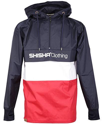 SHISHA Noorder Windbreaker Jacke Uni Navy White Red (M)