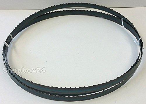 Standard Sägeband Bandsägeband Bandsägeblatt Sägebänder 2100 mm x 13 mm x 0,65 mm x 4 Zähne pro Zoll , für Holz , Hartholz , Brennholz , Sperrholz , Quer- und Schweifschnitte , für Scheppach HBS 32 Vario u.v.m.