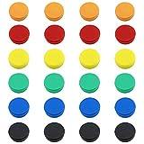 FINDMAG 24 Pack Fridge Magnets, Office Magnets, Dry Erase Board Magnetic pins, Whiteboard Magnets,Refrigerator Magnets