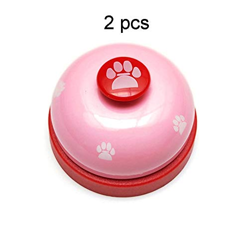 Servicebel Metal Customer Service Bell Desktop decoratie zilver huisdier etensbel Pink Hand bell Kitchen Restaurant bar Klassiek en Praktisch Ontwerp (Color : C2, Size : S)